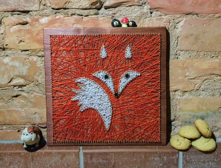 Nursery decoration, fox string art made on reclaimed wood planks, perfect decor for kids room or a gift for newborn, wall decoration by GoodLights on Etsy https://www.etsy.com/listing/266270111/nursery-decoration-fox-string-art-made