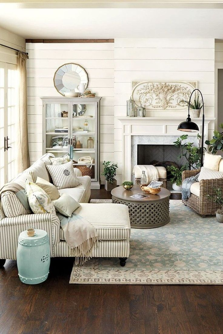 75 Amazing Rustic Farmhouse Style Living Room Design Ideas Part 25