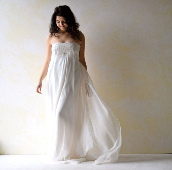 Empire Wedding Dress Strapless Wedding Dress Art by LoreTree