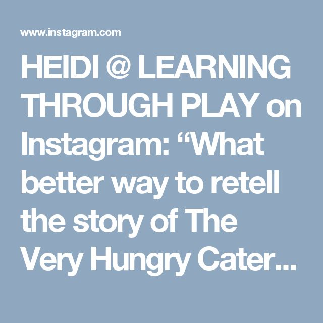 """HEIDI @ LEARNING THROUGH PLAY on Instagram: """"What better way to retell the story of The Very Hungry Caterpillar than to make a giant caterpillar? 🐛💚 A great way to engage with the book…"""""""