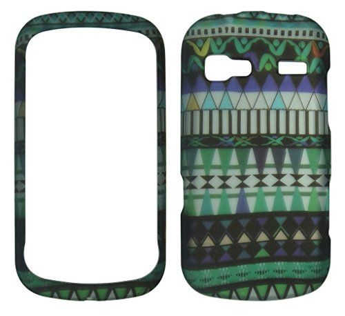 Buy Camo Tribal Pattern Turquoise LG Rumor LN272 Reflex (Sprint) / Converse Case Cover Hard Phone Case Snap-on Cover Rubberized Touch Faceplates NEW for 9.99 USD   Reusell