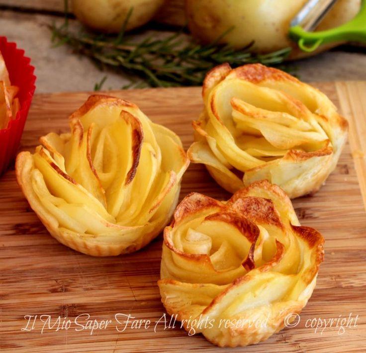 Rose di patate con pasta sfoglia video ricetta il mio saper fare