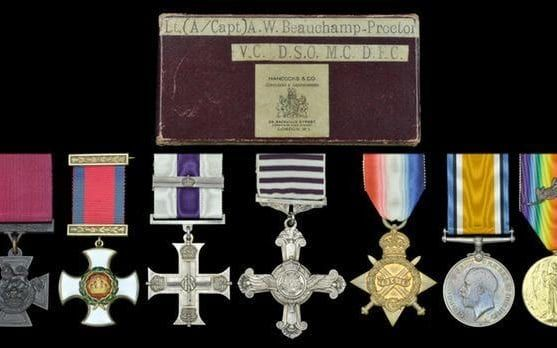 The medal collection of Lieutenant Andrew Beuachamp, now held by Lord Ashcroft