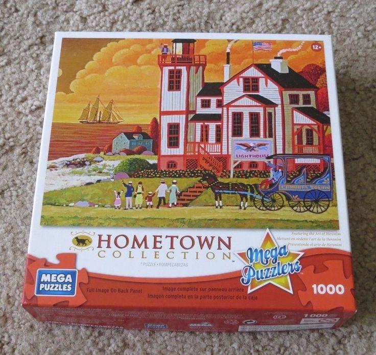 Sunset Visit Heronim Wysocki folk artwork Hometown Jigsaw Puzzle 1000 Pieces pc #MEGABrands
