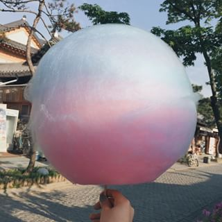 Cotton Candy/ Somsatang (솜사탕) | 15 Magical Korean Street Foods You Need To Try
