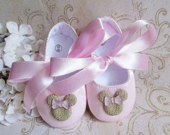 Minnie Mouse inspired pink and gold first by KenzeesKloset on Etsy