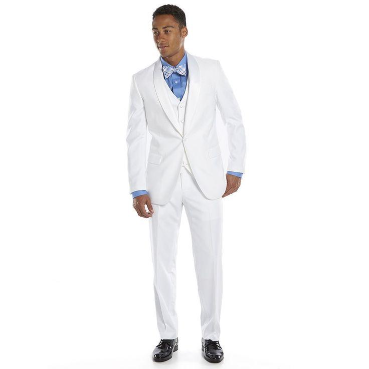 Men's Savile Row Slim-Fit White Tuxedo Jacket, Size: 44 - regular
