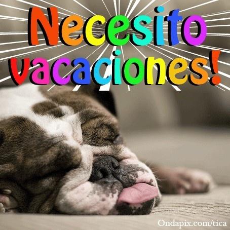 ¿Quien necesita unas vacaciones en este momento?