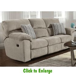 Chevron Seal Double Reclining Sofa by Affordable at Furniture Warehouse | The $399 Sofa Store | Nashville, TN