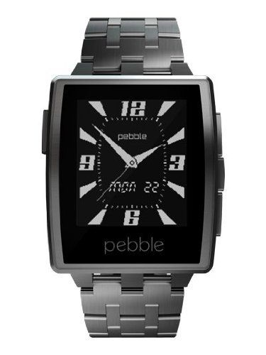 Pebble Steel Smartwatch / Smart Watch for Andriod / iOS (Steel Metal Band)   Smart Is Sexy Pebble Steel brings smart function and elegant form together in a high-end package. Ruggedly handsome, Pebble Steel is crafted from marine-gr