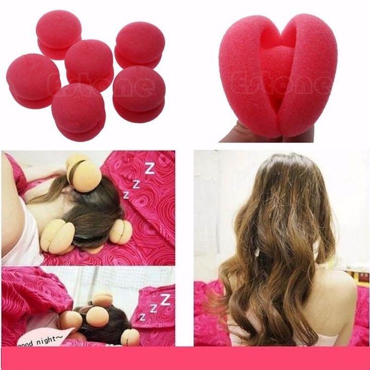 12//18/24/30pcs Balls Hair Rollers Curlers Bun Round DIY Soft Foam Sponge Tools #Unbranded