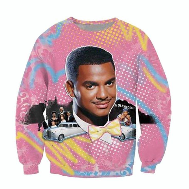 Raisevern new fashion 3D hoodies So Fresh Carlton print crewneck sweatshirt Alfonso Ribeiro Fresh Prince of Bel Air sweats tops-in Hoodies & Sweatshirts from Men's Clothing & Accessories on Aliexpress.com | Alibaba Group