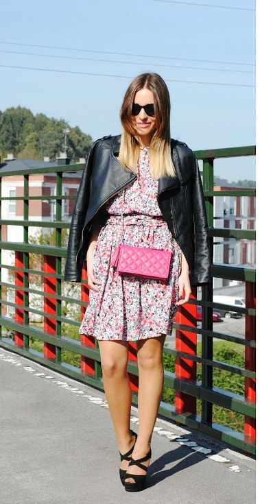 Pink bag. 15-4-2014  Chaqueta/Jacket:ChicNova Vestido/Dress:Sfera (New)…