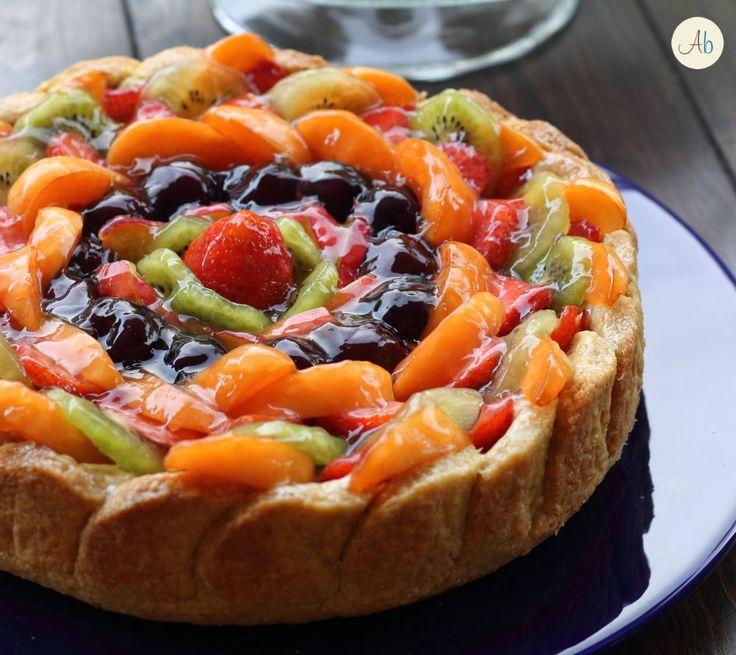 Crostata di Frutta con Frolla al Cocco e Crema al Limone