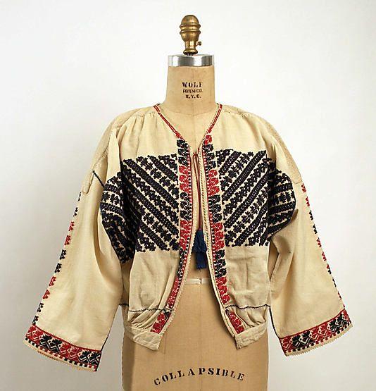 Blouse  Date: early 19th century Culture: Romanian Medium: cotton, silk