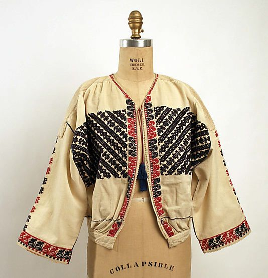 Blouse  Date: early 19th century Culture: Romanian Medium: cotton, silk