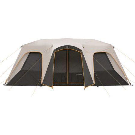 The Bushnell Shield Series Instant Cabin Tent offers Heat Shield technology featuring a special reflective coating on the underside of the rainfly which blocks the sun's UV rays keeping the tent darker and noticeably cooler. Internal and external gear organizers keep items close at hand and reflective tie-downs, zipper-pulls, and piping around doors enhance nighttime visibility. Available at Walmart.com.