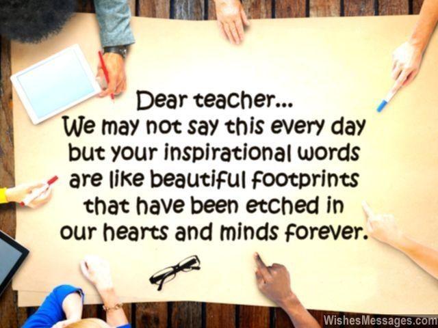 Appreciation for teachers essay