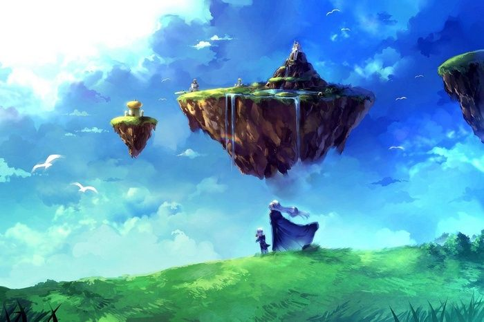 Floating Island Video Games Clouds Chrono Trigger Wallpaper Chrono Trigger Anime Wallpaper Fantasy Island Chrono trigger wallpaper hd
