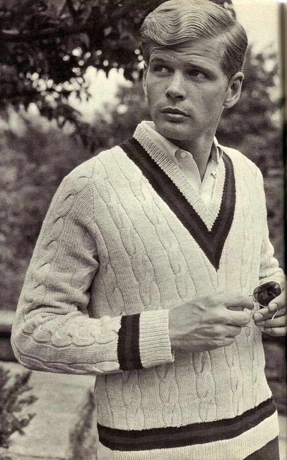 Anyone know what company this is or how I might get this pattern? Knit Cabled Tennis Sweater