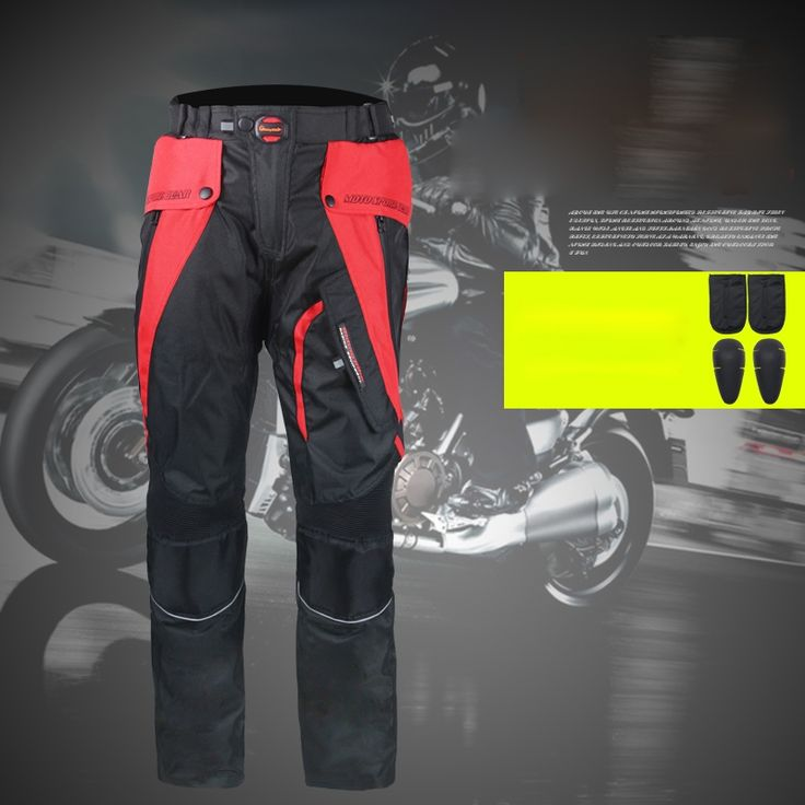 87.10$  Buy now - Racing Motorcycle Pants Motocicleta Motocross Pants Pantalon Moto Trousers Men Racing Pants With 4pcs Protective Knee Pads Pants  #buyininternet