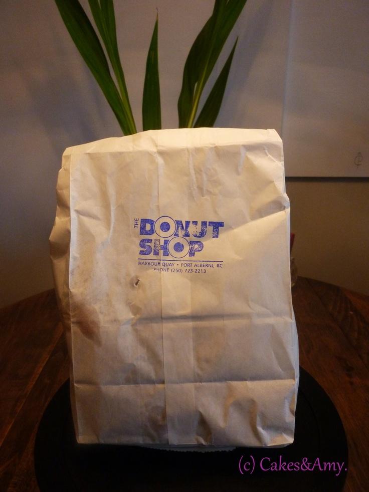 The Bag! The Donut Shop. Port Alberni. Vancouver Island. www.cakesandamyeatout.com