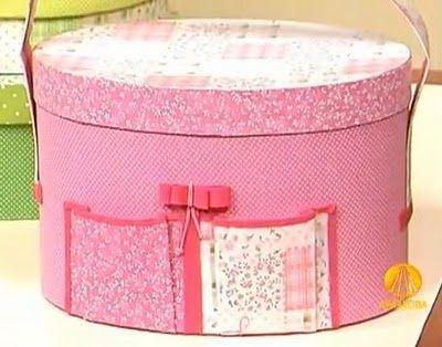 Como Fazer Caixa de Papelão Forrada com Tecido: Fazer Caixa