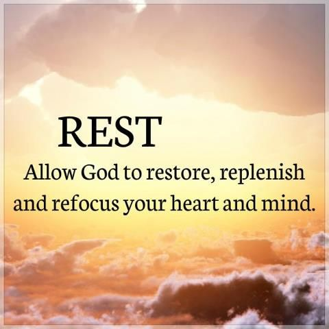 """rest: Hebrews 4:1-3 Therefore, since the promise that we can enter into rest is still open, let's be careful so that none of you will appear to miss it. We also had the good news preached to us, just as the Israelites did. However, the message they heard didn't help them because they weren't united in faith with the ones who listened to it. We who have faith are entering the rest. As God said,And because of my anger I swore:""""They will never enter into my rest!""""And yet God's works were…"""