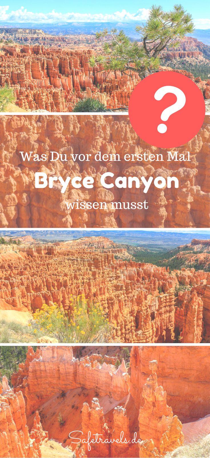 Was Du vor Deinem ersten Besuch am Bryce Canyon wissen musst. Alles rund um Hotels, Wanderungen, Aussichtspunkte, Sehenswürdigkeiten etc am Bryce Canyon in Utah. Bryce Canyon Tipps.