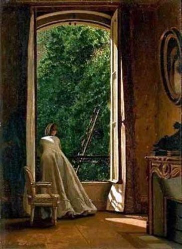 Vito D'Ancona - La finestra sul pomaio, 1873