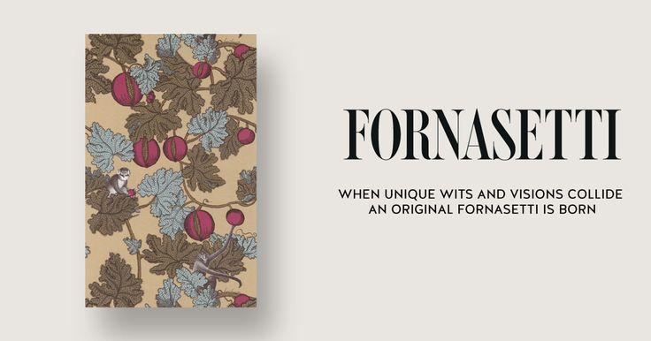 Wallpaper Frutto Proibito by Fornasetti.