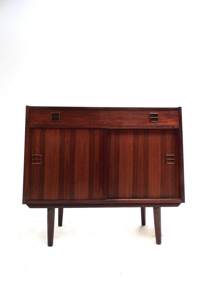 Danish Rosewood Record Cabinet 1960s