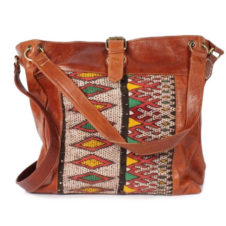 Bohemia Savannah Kilim Bag, Tan