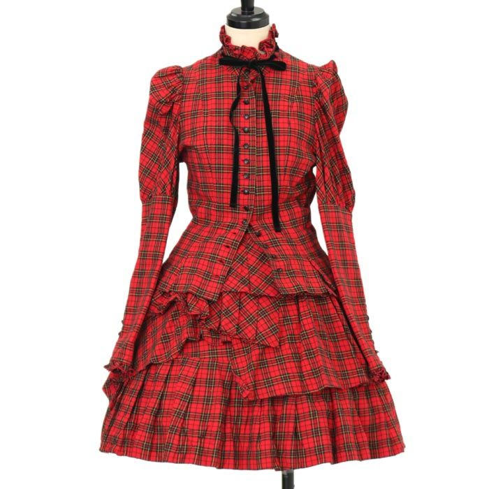 ♥ ATELIER BOZ ♥ Plaid shirt + skirt http://www.wunderwelt.jp/products/detail9368.html If you like this item please check this page ♡ #victorian