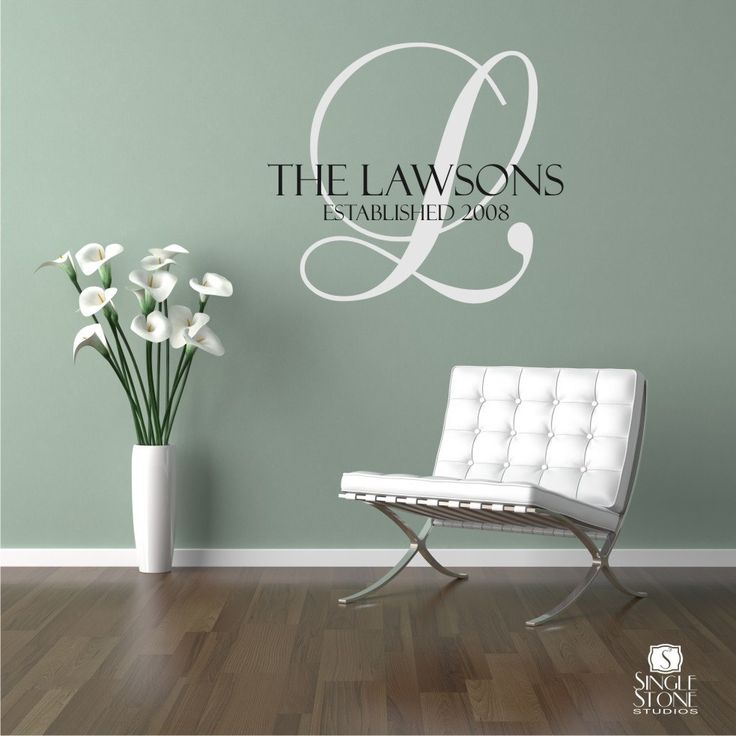 Family Monogram Wall Decal - Vinyl Wall Stickers Art Graphics Words Lettering, via Etsy.