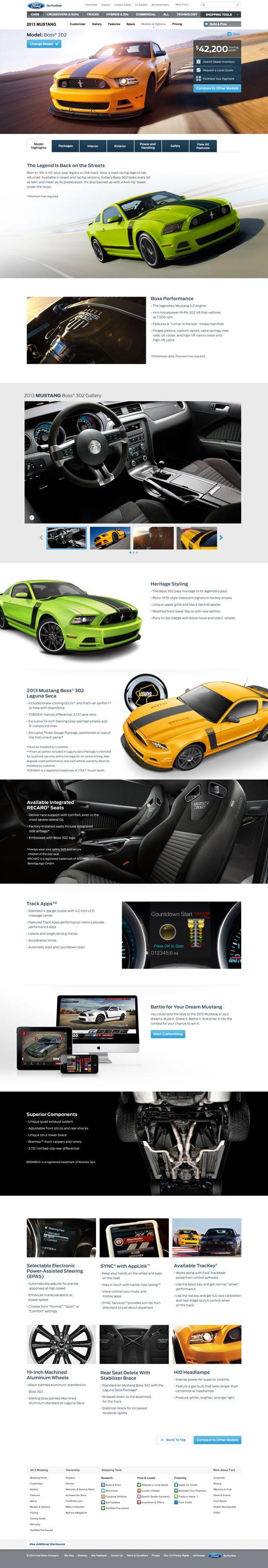 Cool Automotive Web Design on the Internet. Ford. #automotive #webdesign @ http://www.pinterest.com/alfredchong/automotive-web-design/