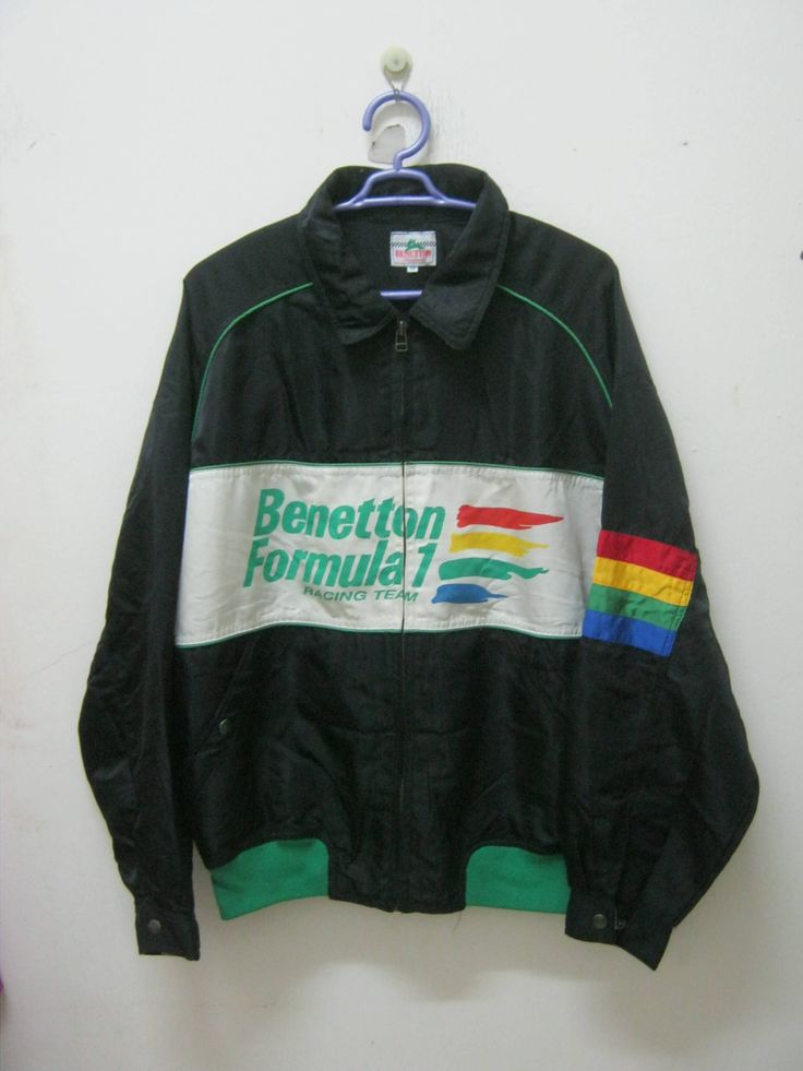 BENETTON FORMULA 1 Racing TEam JaCKET NiCE DESiGN COMFORTaBLE USE by 89bleach on Etsy