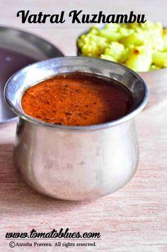 Arachuvitta Vathal Kuzhambu Recipe