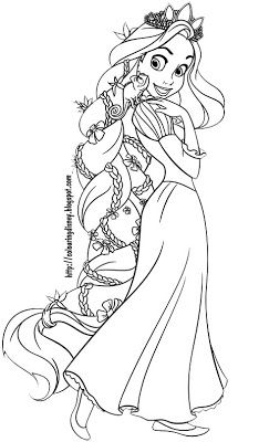DISNEY COLORING PAGES TANGLED OF RAPUNZEL