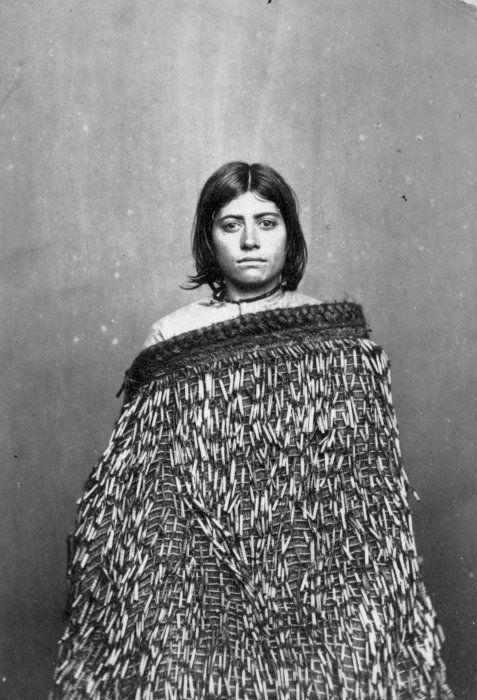 // Portrait of Mere Tupe-o-tu, of Taranaki, taken by Edward Smallwood Richards, c.1860s