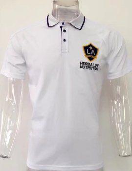 La Galaxy 2017-18 Season White Polo Shirt [J858]