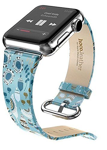 HOCO Apple Watch Band Genuine Leather Strap Bracelet with Metal Buckle. Fashionable and Colorful Wristband for Apple Watch Sport ** Review more details here : Travel Gadgets