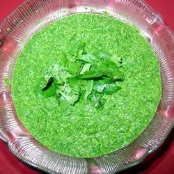 Индийский соус чатни с кинзой