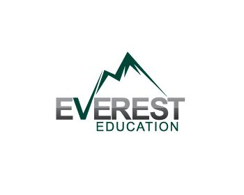everest education: pioneer in kids' education! woohoo! logo like: v integrated into the mountain