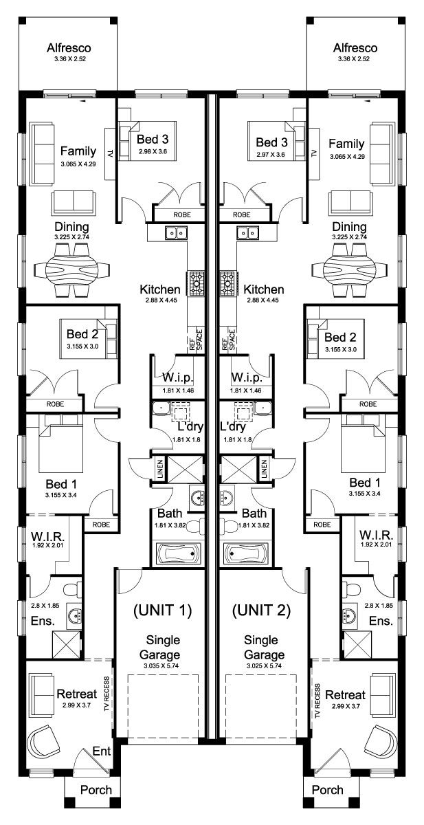 Redleaf 34.7 - Duplex Level - Floorplan by Kurmond Homes - New Home Builders Sydney NSW
