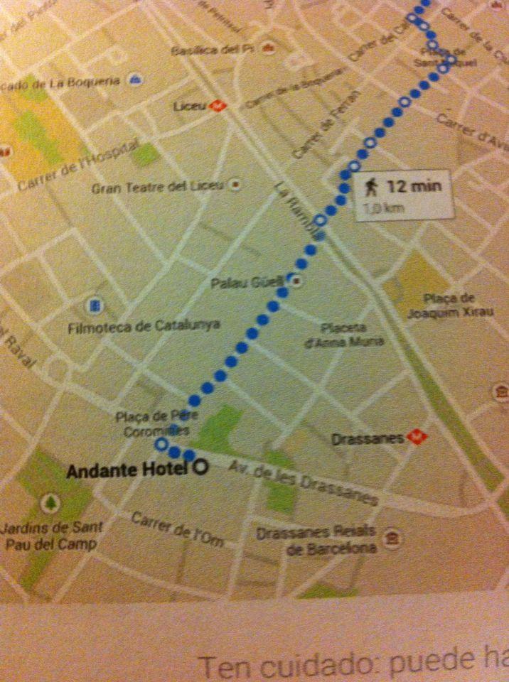 Pau Map%0A Hotel in Barcelona