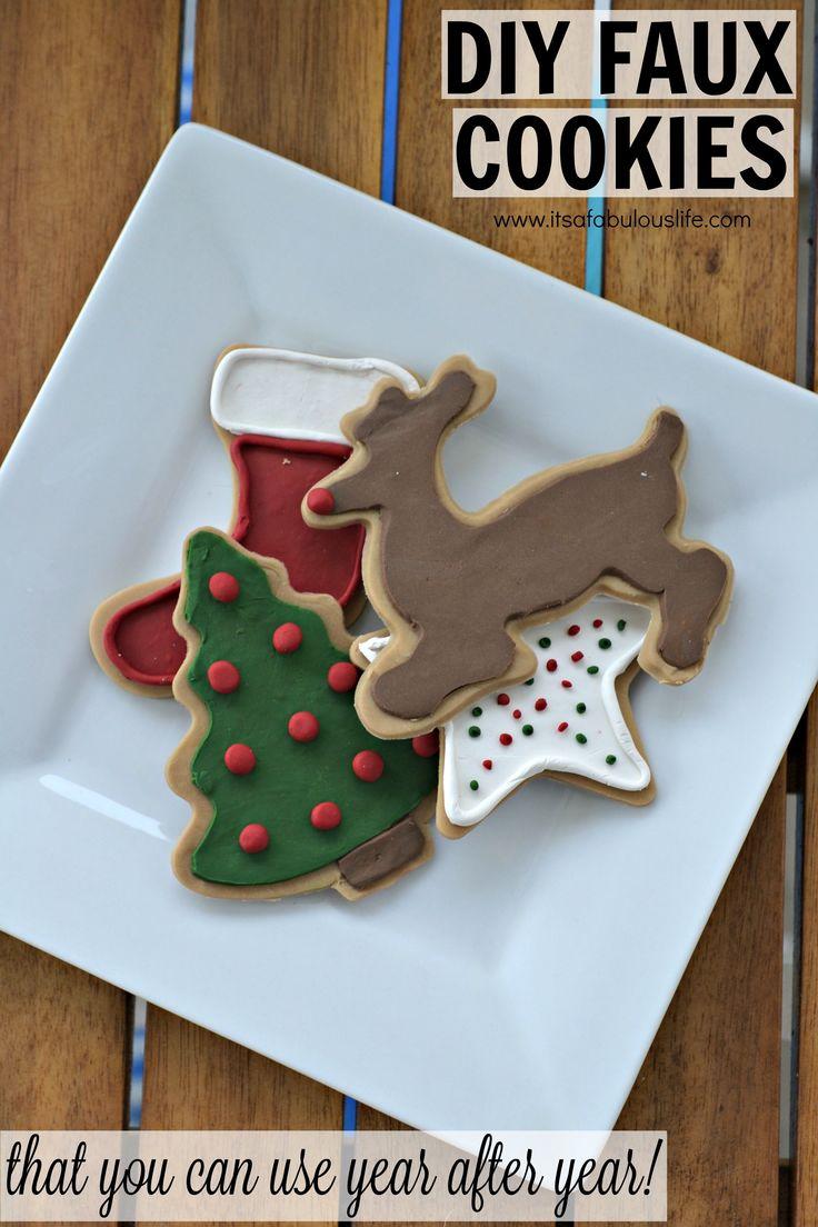 DIY Faux Cookies Cookies, Diy, Cookie decorating