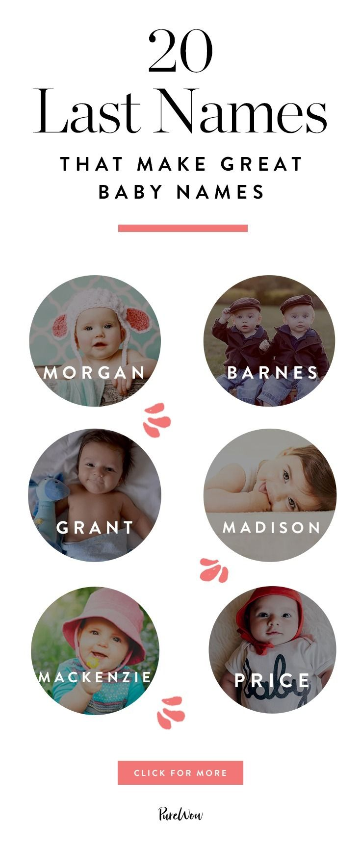 20 Last Names That Make Great First For Babies