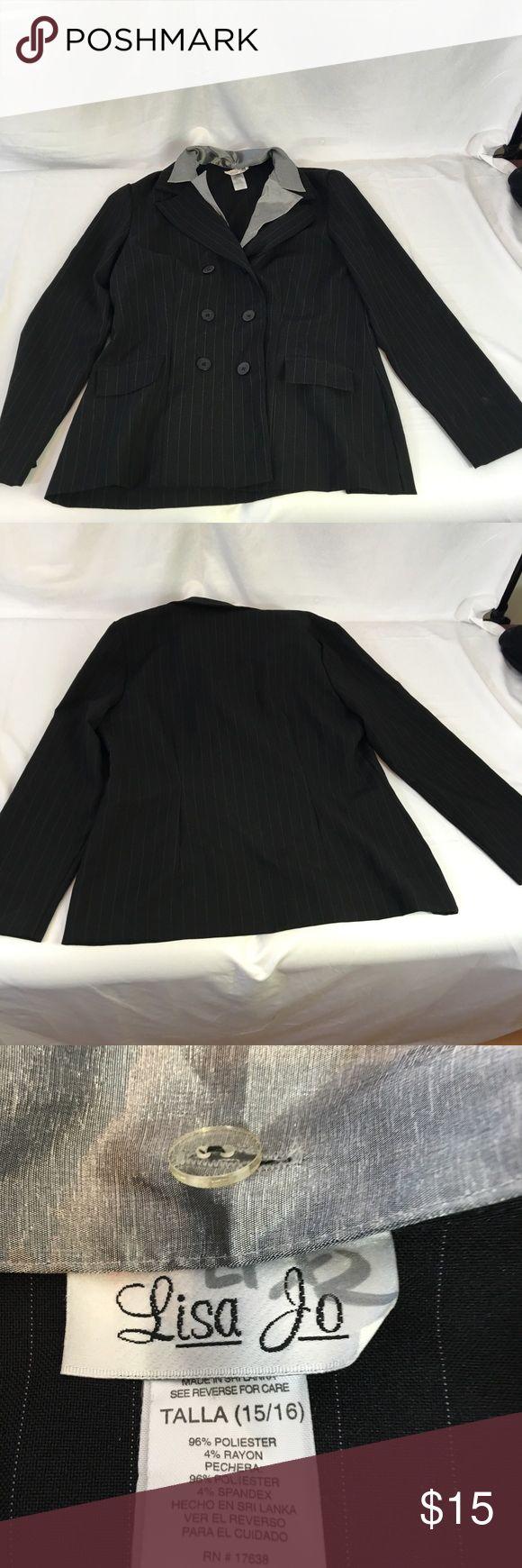 Black Pinstriped Suit 119