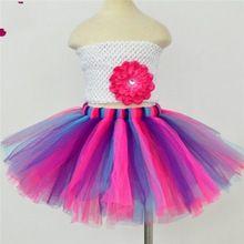 Trendy Muitl Kleur Tule Een Lijn Prinses Meisje Petticoats Baljurk Regenboog Tutu Onderrok Korte Rok Petticoats Crinoline 2017(China (Mainland))